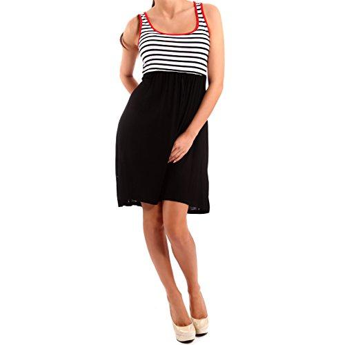 Damen Sommer Kleid Strandkleid Shirtkleid One Size Marine