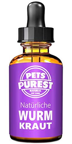 Pets Purest 100% Natürliche Wurm Kraut Pet-Liquid Alternative zu ekligen chemischen Produkten Vorteile Darmhygiene Für Hunde Katzen Geflügel Vögel Frettchen Kaninchen & Haustiere 2 Jahre Liefern