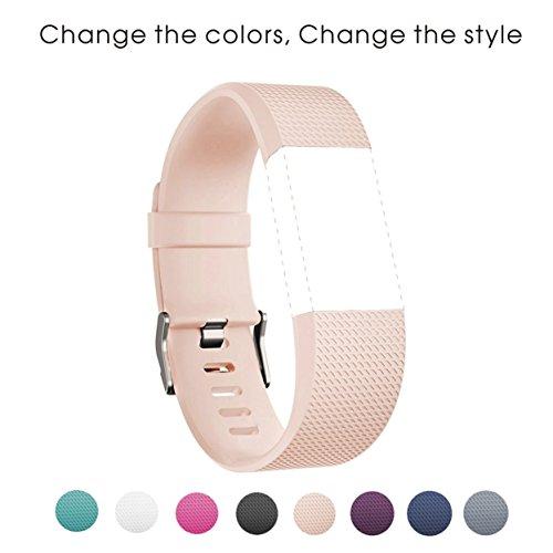 fitbit-charge-2-bracelet-rougir-rose-sunface-tpu-silicone-souple-bande-de-remplacement-de-sangle-de-