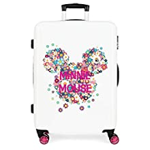 Valise moyenne rigide 68cm Minnie Sunny Day Flowers Fuchsia