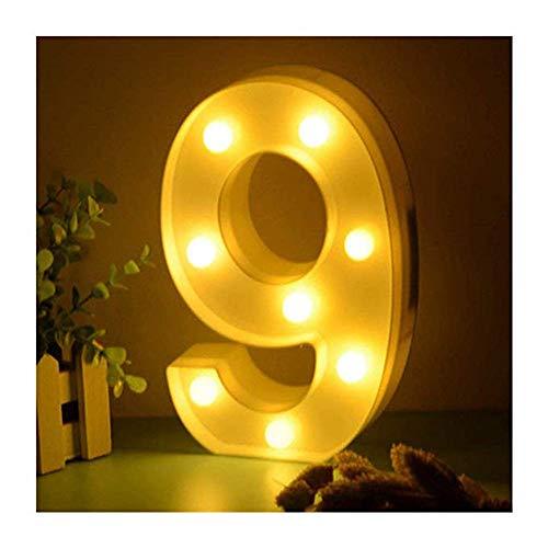 LED Buchstabe Lichter Alphabet, A-Z Alphabet LED Brief Licht für Geburtstag Party Hochzeit Urlaub Haus Bar Zuhause Dekoration (9)