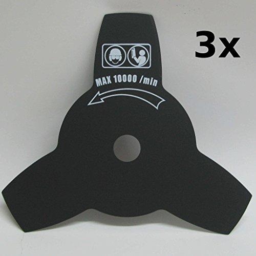 AMZ6BesserTrim Bundle: Menge. 3x mm 254mm Metall Brushcutter Klingen + 1x Blade Sicherheit Cover + 1x Reduzierring: Ø20mm–Ø25.4mm