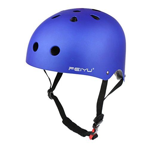 MagiDeal Skaterhelm Inline Skate Helm Radfahren Fahrrad Helm Helmet Schutzhelm für Damen Herren, S/M/L - Blau, L (Damen Snowboard Helm)