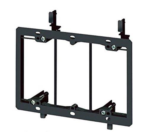 imbaprice-3-gang-low-voltage-wallplate-mounting-bracket-black