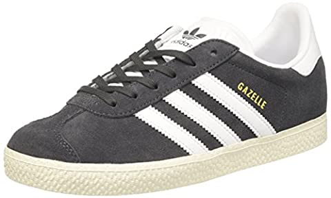Adidas Gazelle, Baskets Basses Mixte Enfant, Gris (Dgh Solid Grey/Footwear White/Gold Metallic), 38 EU