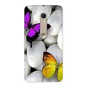 Butterflies white stones Back Case Cover for Motorola Moto X Style