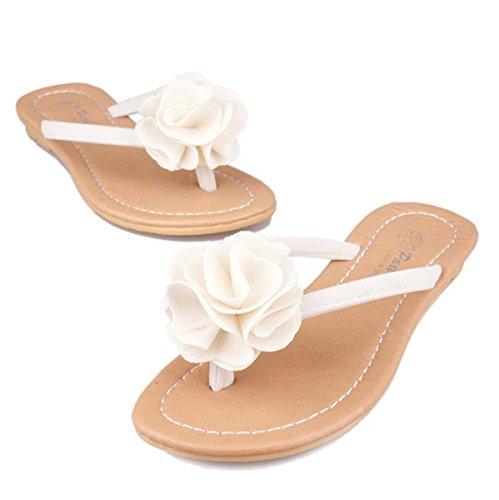 Pantofole femminili Anti-skid Chic personalità Summer Pantofole Beach Coppie Outdoor Flip Flop White
