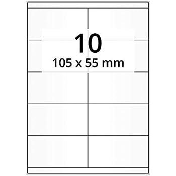 PET-Folie transparent matt 14 Etiketten A4 Bogen 105 x 42 mm selbstklebend