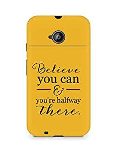AMEZ believe you can and you are there halfway Back Cover For Motorola Moto E2