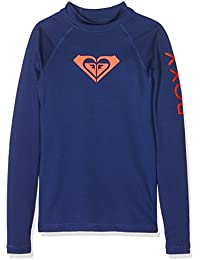 Roxy wholeh eartl sgrl Whole Hearted de manga larga Rash Chaleco, niña, WholeHeartLsGrl, blue depths, 14/XL
