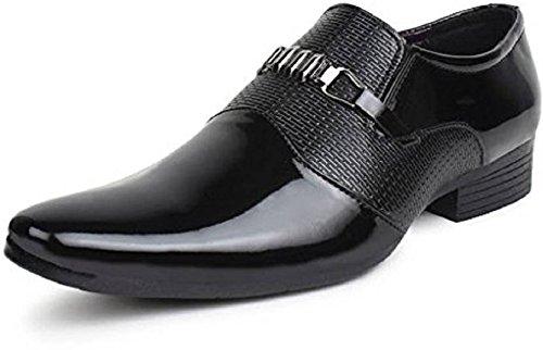 TR Men's Formal Shoes (9, Black-3)