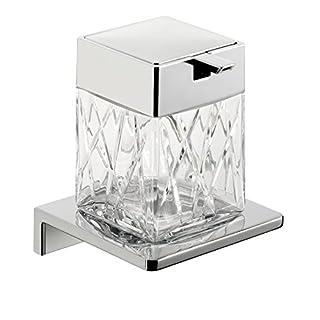 Emco 132120401 Fl.-Seifenspender Asio Version 1 mit Behaelter aus Kristall, klar geschlifür, verchromt