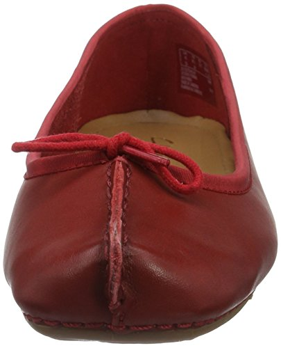 Clarks Damen Freckle Ice Geschlossene Ballerinas Rot (Red)