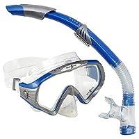 Aqua Lung SC227113BLU Starbuck Snorkeling Diving Mask and Snorkel Set, Blue