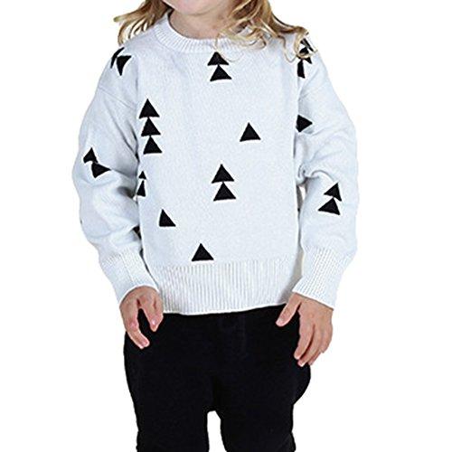 Mädchen Jungen Jumper Strickpullover - 2017 Weihnachten Kinder Langarm mit Hoher Kragen Warm Pullover Kleidung Sweatshirt Outwear für 1-5 Jahre (Shirt 2x22 24)