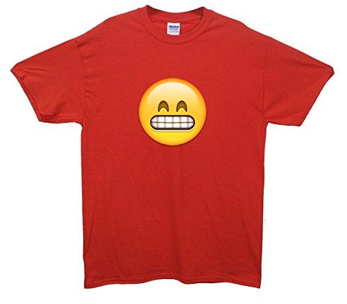 Grimacing Face Emoji T-Shirt Rot