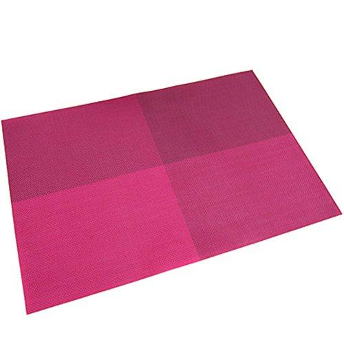 TININNA 4er Set Elegante Bunt Gewebter Tischsets Tischunterlage Platzdecken Platzset Platzmatten Tischmatten hot pink