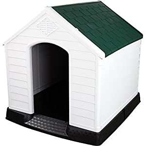 Extra Large Plastic Dog Kennel Weatherproof for Indoor or Outdoor Use W96.5cm x H98.5cm x D105cm