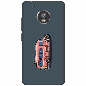 PrintlandPrintedHard Plastic Back Cover for Moto G5 -Multicolor
