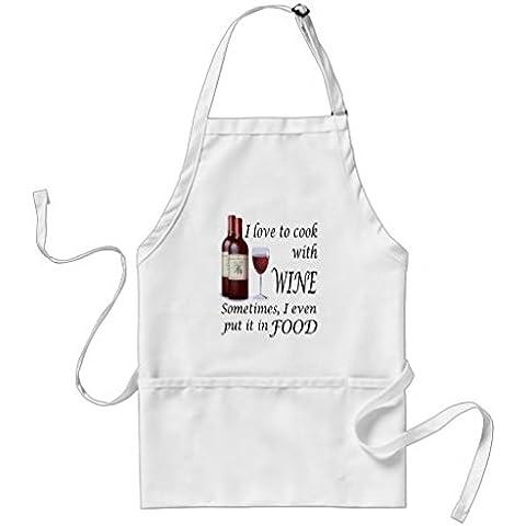 whiangfsoo Love to Cook con vino anche nel cibo grembiule