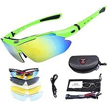 Gafas De Sol Hombre Gafas De Ciclismo Gafas De Sol Polarizadas 5 Lentes Intercambiables Gafas ROCKBROS