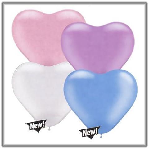 6palloncini a forma di cuore