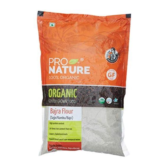 Pro Nature 100% Organic Bajra Flour, 500g