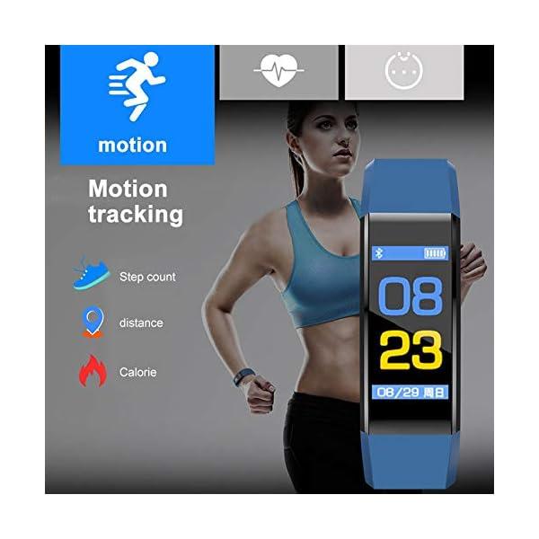 MENGZHEN 1 UNID Y3 Monitor de Actividad del Ritmo cardíaco Pantalla táctil Usable Podómetro Bluetooth Pulsera Inteligente con Monitor de sueño 4