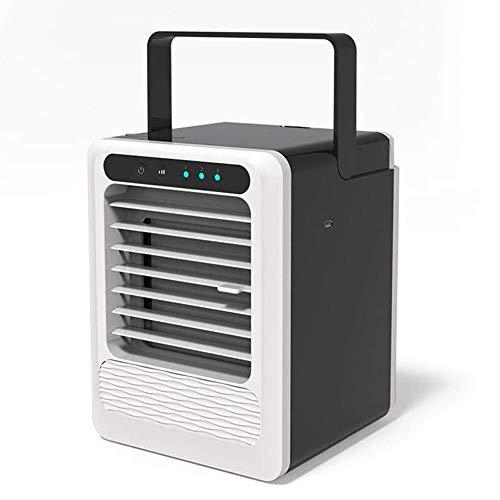Starsou Tragbarer Air Cooler Luftkühler Mobile Klimageräte Wasserkühlung Zimmer Raumentfeuchter Ventilator,Schwarz (Kleines Zimmer Luftbefeuchter Für Zu Hause)