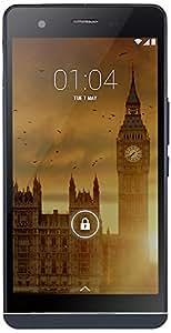 Kazam Tornado 455L Smartphone sbloccato 4G (Schermo: 5,5pollici–16GB–Semplice Sim–Android 4.4Kitkat) Nero