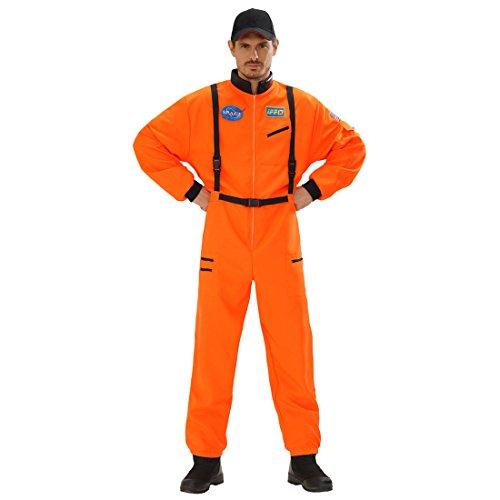 Astronautenanzug Astronauten Kostüm orange M 50 Space Herrenkostüm Astronaut Overall Astronautenkostüm Weltall Faschingskostüm Weltraumanzug Verkleidung Karnevalskostüme Herren (Astronaut Anzug Orange)