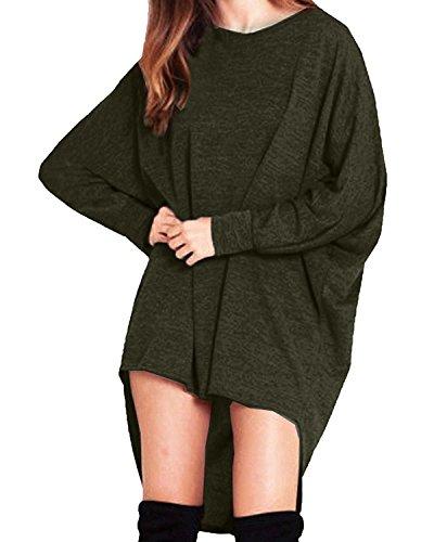 Fortunings JDS Pull molletonné occasionnel sexy tricot pull molletonné pour les femmes armée verte