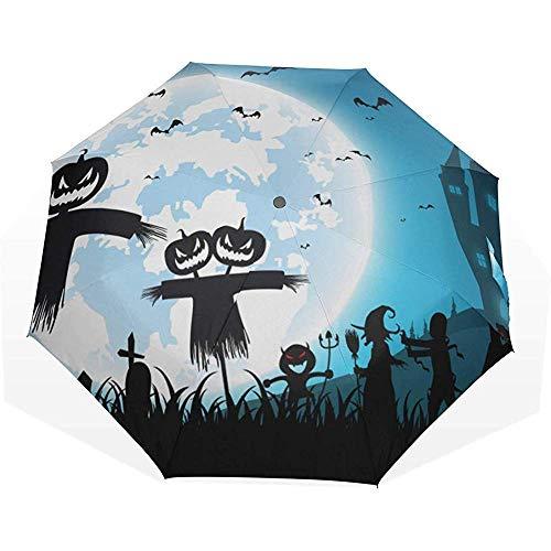 Ombrello luna piena di notte con molti 3 ombrelli artistici ombrelli ombrello pioggia pieghevole miglior ombrellone