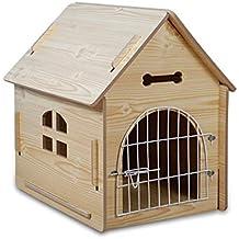 Casetas para perros Casa de Mascotas Caseta de Madera Nido para Mascotas/Jardín Exterior Casa