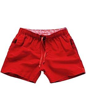 BOZEVON Hombres Mujer Casual Ajustable Pantalonetas Deporte Pantalón Shorts de Playa Surf Cortos