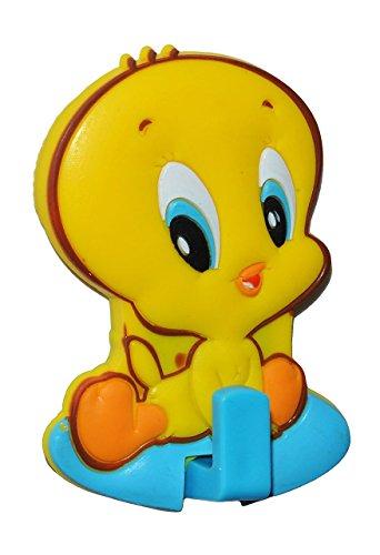 """Garderobenhaken - """" Vogel Tweety - Looney Tunes """" - für Kinder Haken Kinderzimmer - Wandhaken - Kleiderhaken zum Kleben ODER Aufhängen / Badhaken / Handtuchhaken - Garderobe / Kinderzimmerhaken Wandhaken"""