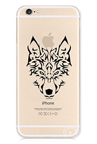 iPhone 6s PLus Custodia Animale sveglio del modello Custodia, Richoose iPhone 6 plus (5.5 inch) protettivo paraurti [Scratch-Resistant], caso molle ultra sottile Clear Type del modello di cristallo del gel della gomma flessibile Slim pelle per il iphone 6s plus, caso del fumetto sveglio del lupo Drago Aquila Tiger leopardo cavallo per iPhone 6 Plus / 6s Plus (5.5 inch)