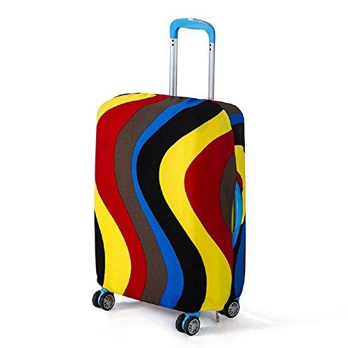 Artone Onda Del Rainbow Spandex Viaggio Protezione Bagagli Bagaglio Copertura Valigia Adatti I Bagagli Da 22 Pollici