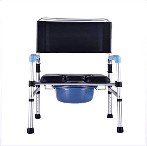TWL LTD-Wheelchairs Bedside Commodes 5 Höhenverstellbar Senioren Behinderte Schwangere Medizinische Hilfe Reha Stuhl Bedside Commodes Dusche Deluxe Stuhl -