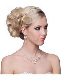 SEXYHER Erstaunlich Legierung Strass Halskette und Ohrringe Set - SH-HM-G150