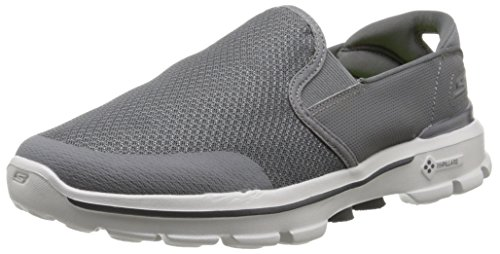 Skechers Go Walk 3charge, Baskets Basses homme Anthracite
