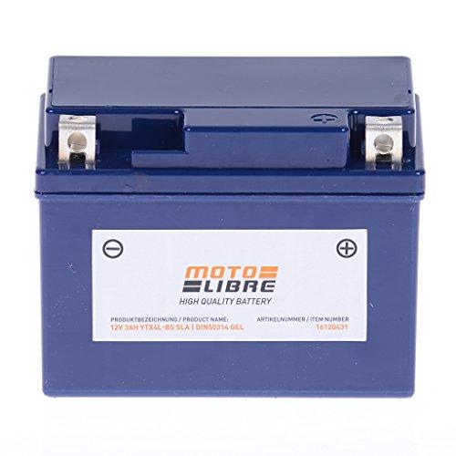 Gel Wave (Batterie 12V 3AH YTX4L-BS SAL Gel Motolibre 50314 Honda AFS Wave 110i 110 JC51 12-16)