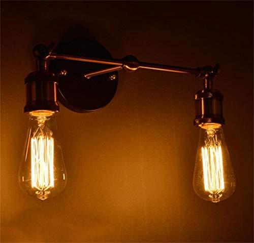 SED Lampe-Wandlampe dekorative Lichter Schlafzimmer Gang amerikanische Landhausstil Restaurant und Bar Industrie Retro kreative Wand Bronze Haushalt Licht,1 -
