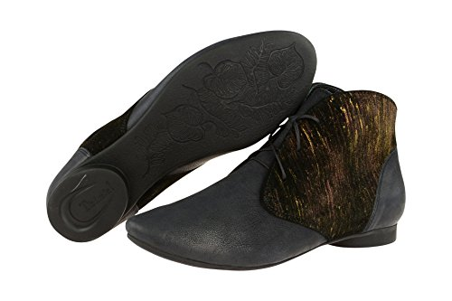 Think Guad, Stivali Desert Boots Donna Blu scuro
