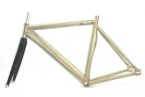 Ridewill Bike Rahmen starr-Rennstrecke in Aluminium 700CX52roh + Gabel Carbon ((starr)/Frame Fixed Crono Style aus Aluminium 700CX52untreated + Carbon Fork (Fixed Frames)