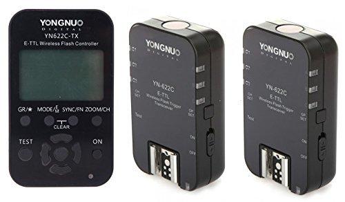 YONGNUO YN-622C-TX LCD FlashTransmitter YN-622C Trigger für Canon DSLR-Kamera+YongNuo YN - 622C drahtlose TTL Flash-Trigger Transeiver für Canon 7D 5DII 5DIII 1DIV 1DIII 5D 2,4 GHz 1/8000 s - Ttl-lcd