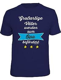 Original RAHMENLOS® Geschenk-T-Shirt für den frisch gebackenen Großvater: Großartige Väter werden zum Opa befördert