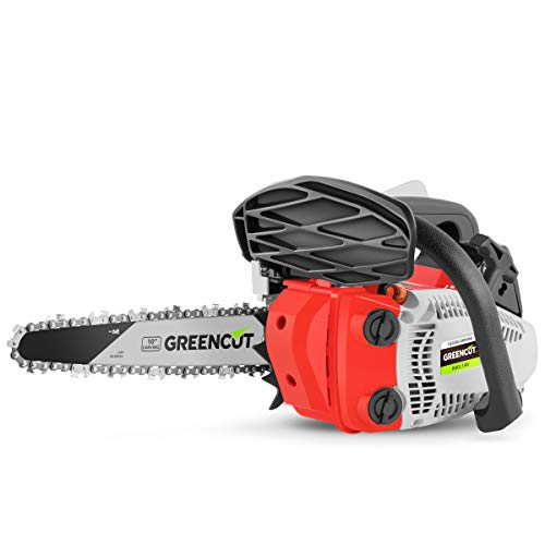 """Greencut GS2500 10 CARVIN - Motosierra de gasolina, 25,4cc - 1,4cv, espada 10"""""""