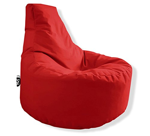 Patchhome Gamer Kissen Lounge Kissen Sitzsack Sessel Sitzkissen In & Outdoor geeignet fertig befüllt - Rot - in 25 Farben