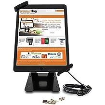Armourdog - Soporte universal para tablet, con función atril, incluye cable y cerradura de seguridad, reclinable y giratorio hasta 360grados, para iPad Air, 2, 3 y 4 y Lenovo ThinkPad 10e IdeaPad Miix 700, entre otros, compatible con la mayoría de tablets de 10 - 13 pulgadas (25,4 - 33 cm)